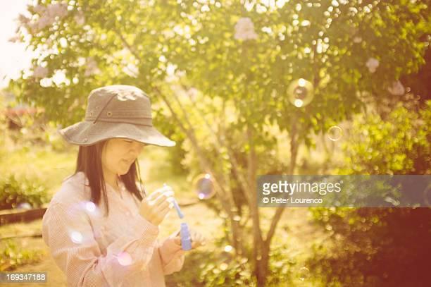 Warm sunny bubbles