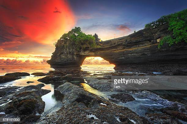 Warm sunset at Batu Bolong, Tanah Lot - Bali, Indonesia