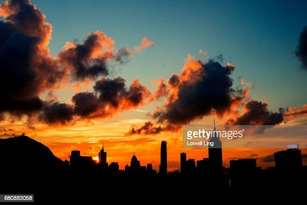 Warm Sunset over Central, Hong Kong