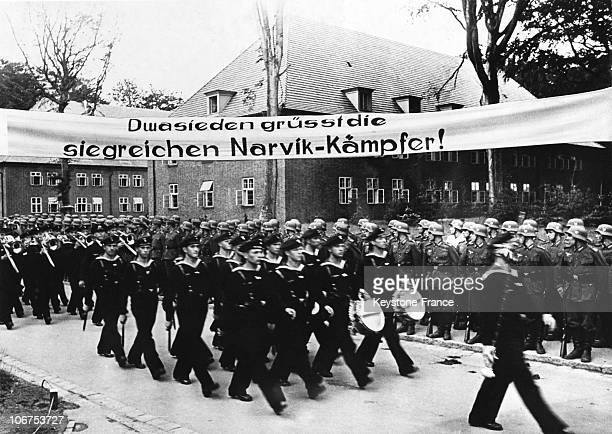 Warm Welcoming For The Fighters Of The Battle Of Narvik On July 13Th 1940