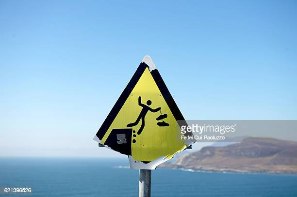 Warming sign at Knockmore in Achill Island in Ireland