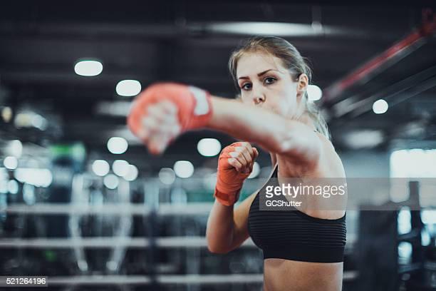 Precalentamiento de un combate de boxeo
