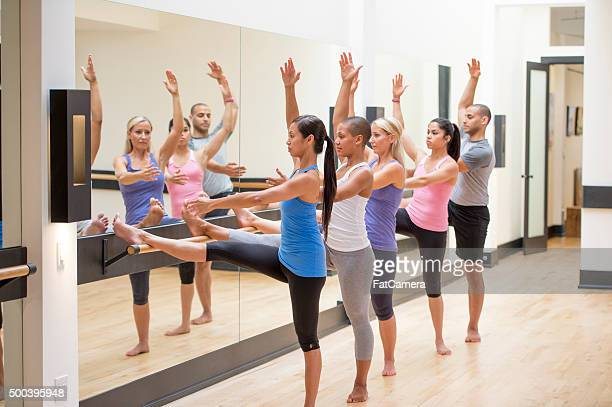 Warming up for Pilates Class