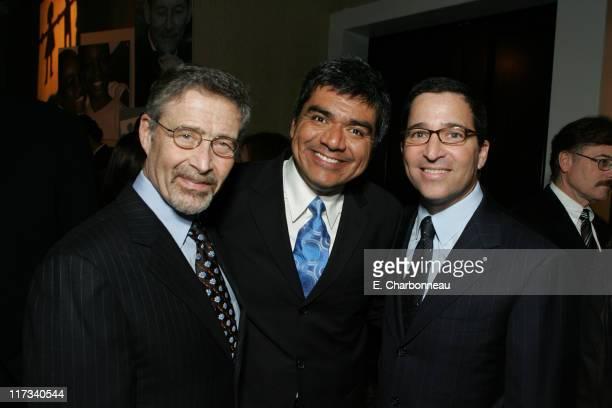 Warner Bros' Barry Meyer George Lopez and Warner Bros Television Group's Bruce Rosenblum