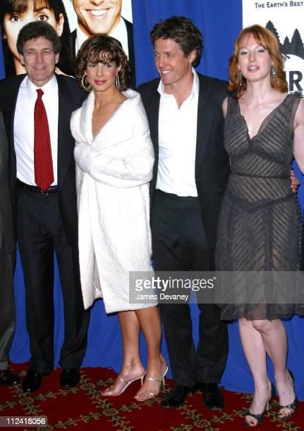 Warner Bros chairman/COO Alan Horn actress/producer Sandra Bullock Hugh Grant and Alicia Witt