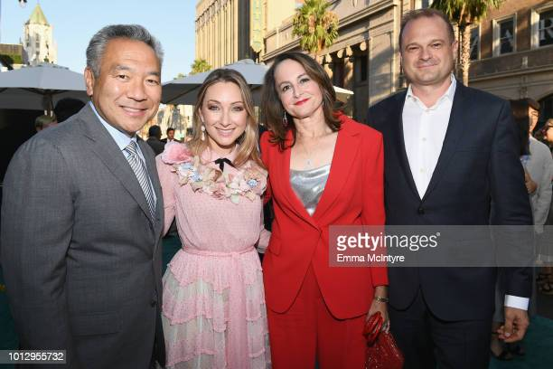 Warner Bros Entertainment CEO Kevin Tsujihara Blair Rich Nina Jacobson and Brad Simpson arrive at Warner Bros Pictures' Crazy Rich Asians Premiere at...