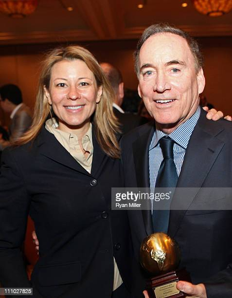 Warner Bros Pictures' president of international distribution Veronika KwanRubinek and Warner Bros Entertainment's EVP of international Richard Fox...