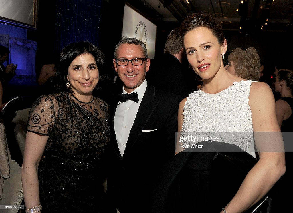 Warner Bros. Pictures President of Worldwide Marketing Sue Kroll, director Adam Shankman and actress Jennifer Garner during the 65th Annual Directors Guild Of America Awards at Ray Dolby Ballroom at Hollywood & Highland on February 2, 2013 in Los Angeles, California.