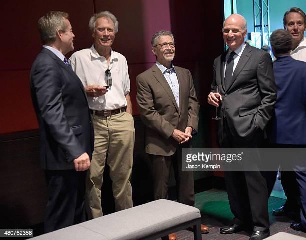 Warner Bros President of Worldwide Studio Facilities Jon Gilbert Clint Eastwood former Warner Bros Chairman CEO Barry Meyer and Warner Bros...