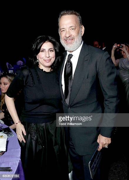 Warner Bros President Worldwide Marketing and Distribution Sue Kroll and actor Tom Hanks attend the 28th Annual Palm Springs International Film...