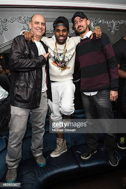 Warner Bros Records Executive Vice President of AR Jeff Fenster singer Jason Derulo and Director of Global AR for Warner Music Group Aton BenHorin...