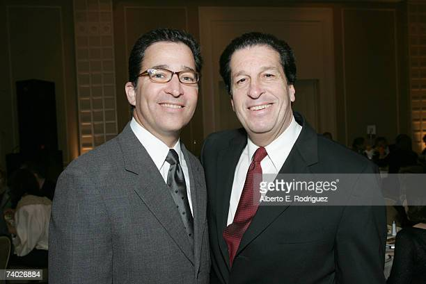 Warner Bros Television's Bruce Rosenblum and Peter Roth attend the Literacy Networks' LIMA awards dinner on April 29 2007 in Los Angeles California