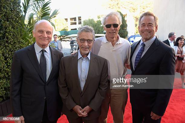 Warner Bros Vice Chairman of Entertainment Ed Romano former Warner Bros Chairman CEO Barry Meyer Clint Eastwood and Warner Bros President of...