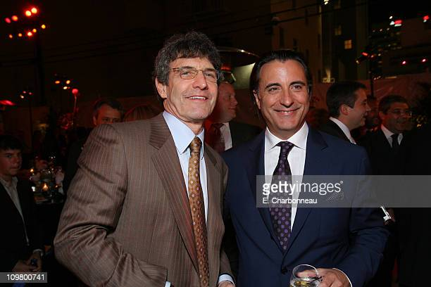 Warner Bros's Alan Horn and Andy Garcia during Warner Bros Pictures Village Roadshow Pictures Jerry Weintraub and Section 8 Productions Host the...