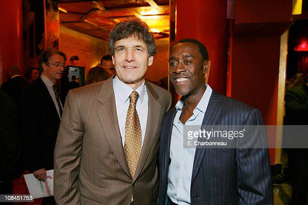 Warner Bros's Alan Horn and Don Cheadle during Warner Bros Pictures Village Roadshow Pictures Jerry Weintraub and Section 8 Productions Host the...