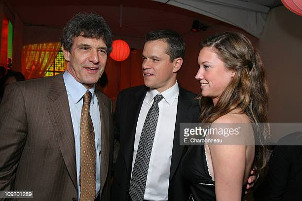 Warner Bros's Alan Horn Matt Damon and Cassidy Horn
