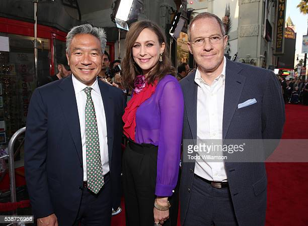 Warner Brother's CEO Kevin Tsujihara Vera Farmiga and Executive Producer Toby Emmerich attend the Los Angeles Film Festival The Conjuring 2 Premiere...
