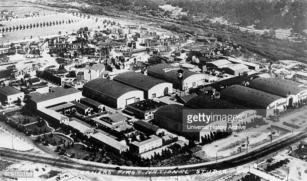 Warner Brothers' First National Studios High Angle View Burbank Los Angeles California USA circa 1930
