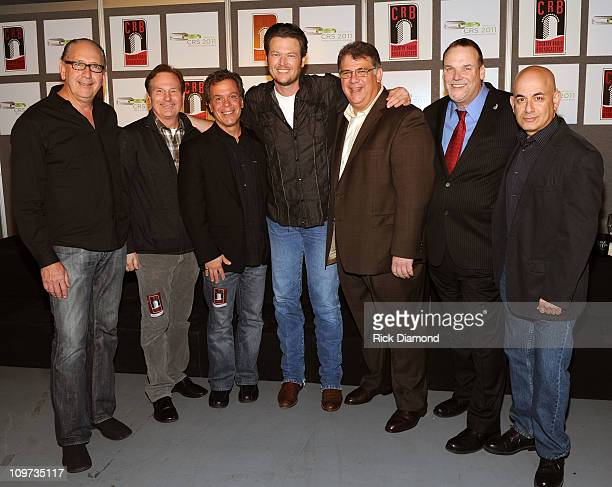 Warner Brothers President Bob Exposito Butch Waugh ACMVP RA Clark ACM Awards Executive Producer Record Artists Blake Shelton CEO/ACM Bob Romeo Bill...