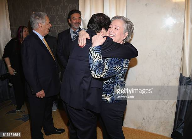Warner Television President Peter Roth and Actress Kathy Bates attend Midnight Mission's Golden Heart Awards Gala at the Beverly Wilshire Four...