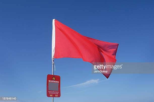 warning flag - warning sign stock pictures, royalty-free photos & images