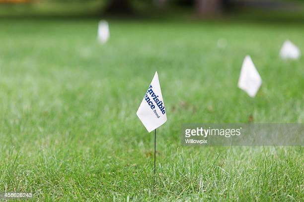 Warnung Flags für unsichtbaren Zaun Marke Hund In-System