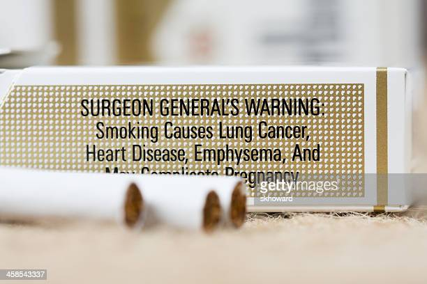 warning on pack of marlboro cigarettes - cigarette pack stock pictures, royalty-free photos & images