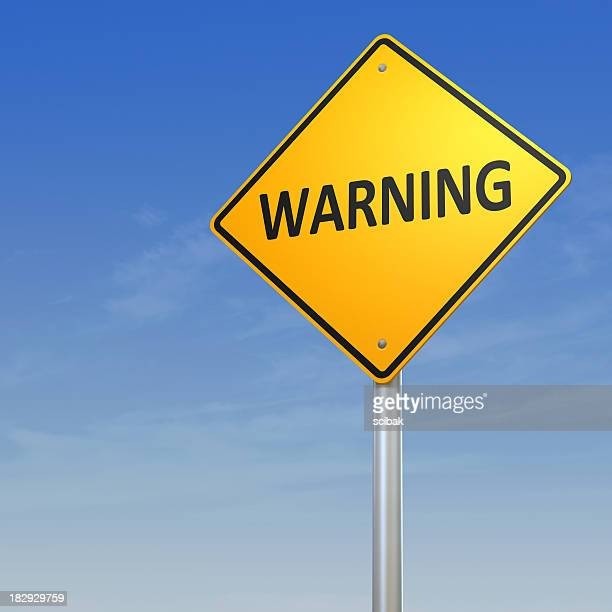 warning road sign - warning sign stock pictures, royalty-free photos & images