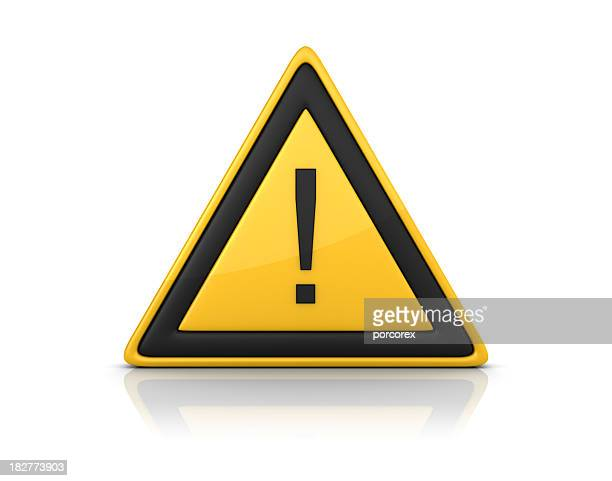 warning sign - exclamation point - warning sign stock pictures, royalty-free photos & images