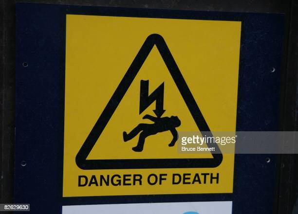 A warning sign for the London Underground photographed on August 18 2007 in London England