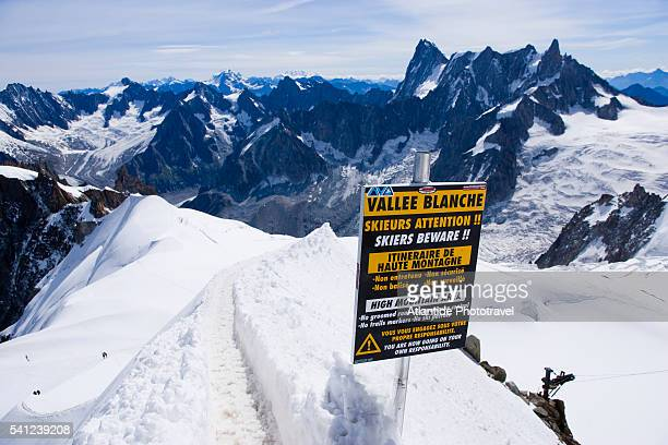 Warning Sign High on Mont Blanc