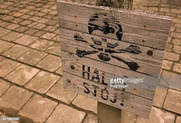 Warning Sign in Auschwitz Concentration Camp