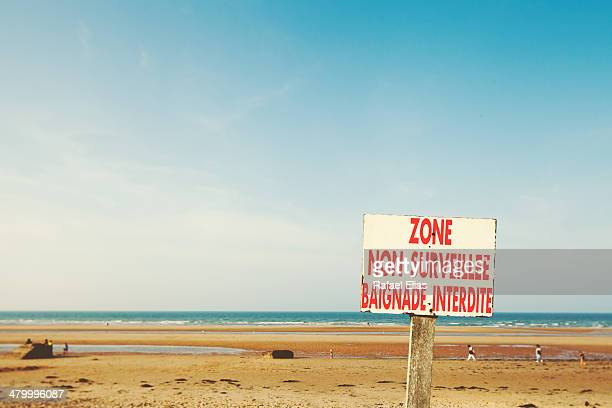 Warning sign on the beach