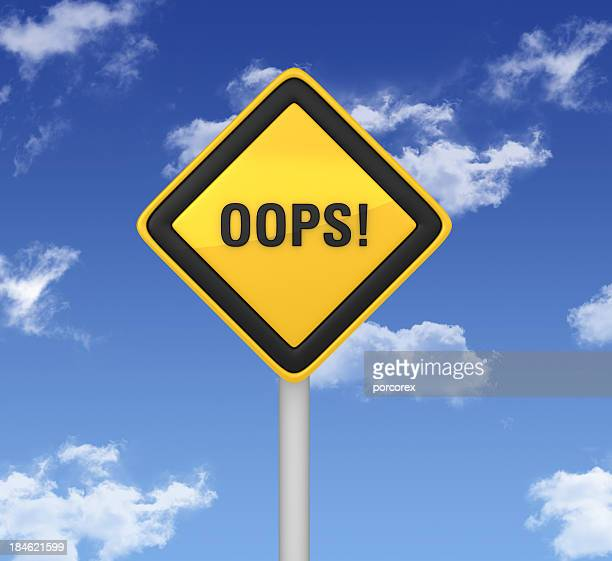 warning sign - oops! - error message stock pictures, royalty-free photos & images