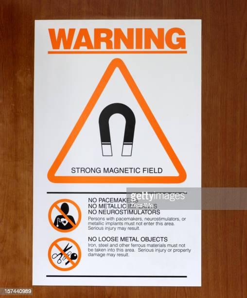 Warning sign outside MRI scanner