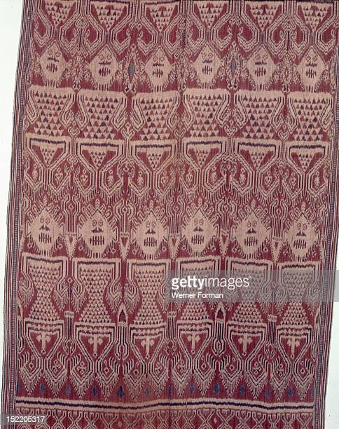 Warp ikat pua cloth worn by Iban people in ritual ceremonies called gawai connected with agriculture warfare and the commemoration of the dead The...