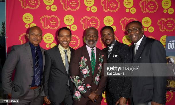 Warren Adams Charles RandolphWright BeBe Winans Donal Lawrence and guest attend the Opening Night Of Born For This at The Broad Stage on July 20 2017...