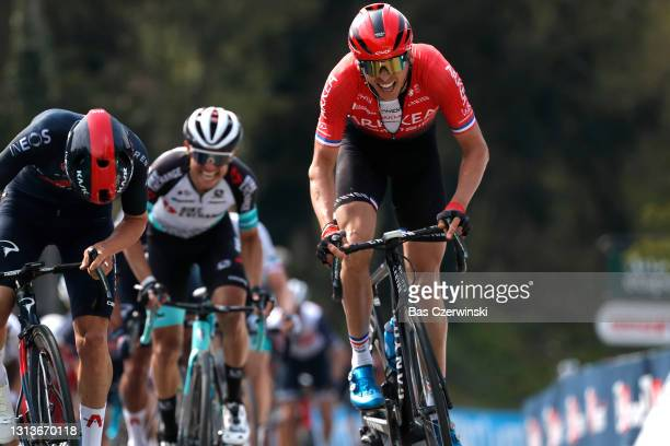 Warren Barguil of France and Team Arkéa - Samsic on arrival during the 85th La Fleche Wallonne 2021, Men Elite a 193,6km race from Charleroi to Mur...