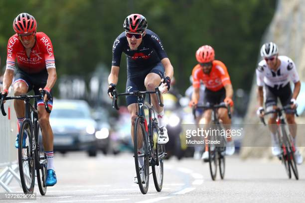 Warren Barguil of France and Team Arkea - Samsic / Pavel Sivakov of Russia and Team INEOS Grenadiers / during the 107th Tour de France 2020, Stage 16...