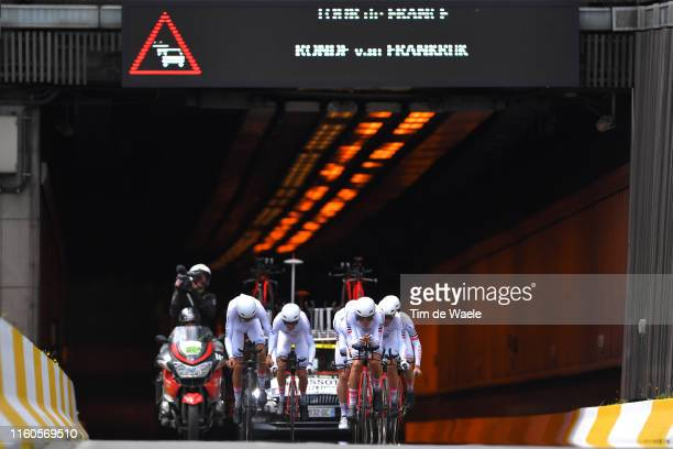 Warren Barguil of France and Team ArkeaSamsic / Maxime Bouet of France and Team ArkeaSamsic / Anthony Delaplace of France and Team ArkeaSamsic / Elie...