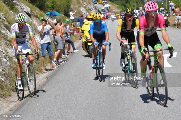 Warren Barguil of France and Team Fortuneo Samsic / Alejandro Valverde of Spain and Movistar Team / Steven Kruijswijk of The Netherlands and Team...