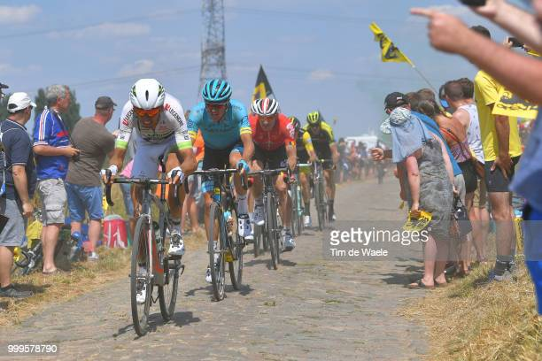Warren Barguil of France and Team Fortuneo Samsic / Jakob Fuglsang of Denmark and Astana Pro Team /Andre Greipel of Germany and Team Lotto Soudal /...