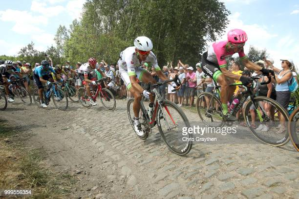 Warren Barguil of France and Team Fortuneo Samsic / Sep Vanmarcke of Belgium and Team EF Education First Drapac P/B Cannondale / ont Thibault a...