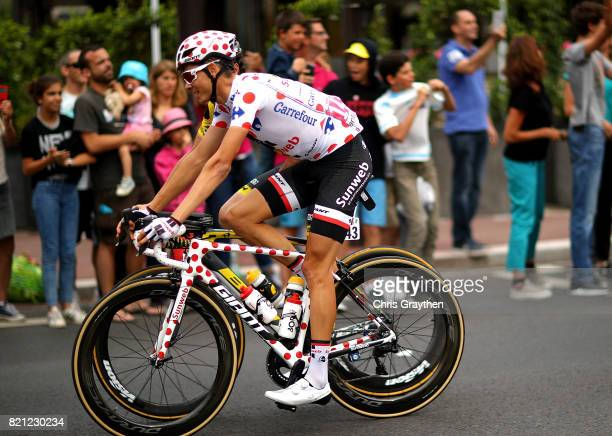 Warren Barguil of France and Team Sunweb in action stage twenty one of Le Tour de France 2017 on July 23 2017 in Paris France