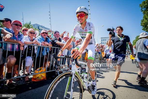 Warren Barguil of team FORTUNEOSAMSIC during the stage 05 of the Tour de France 2018 on July 11 2018 in Quimper France