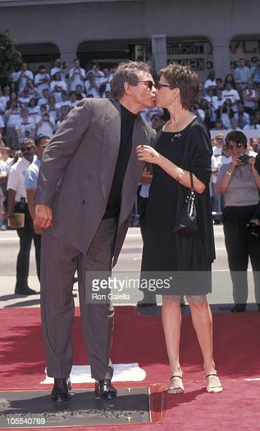 Warren Beatty and Annette Bening during Hand and Footprint Ceremony Honoring Warren Beatty at Mann's Chinese Theater in Hollywood California United...