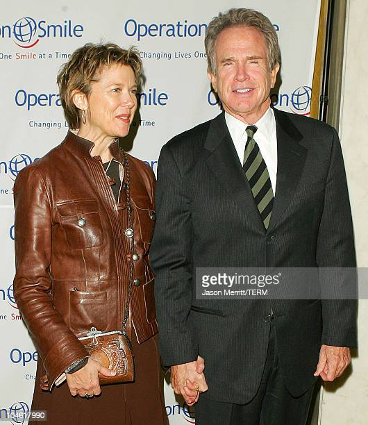 Warren Beatty and Annette Bening during Operation Smile 4th Annual Los Angeles Gala at Regent Beverly Wilshire Hotel in Los Angeles, California,...