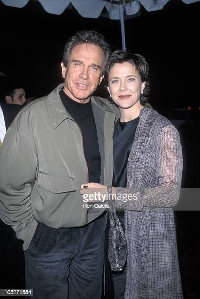 Warren Beatty and Annette Bening during West Coast Premiere of 'Bulworth' at Academy of Motion Pictures Arts Sciences in Los Angeles California...