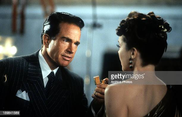 Warren Beatty and Annette Bening in a scene from the film 'Bugsy' 1991