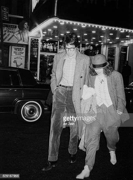 Warren Beatty and Diane Keaton walking down the streets of New York circa 1970 New York